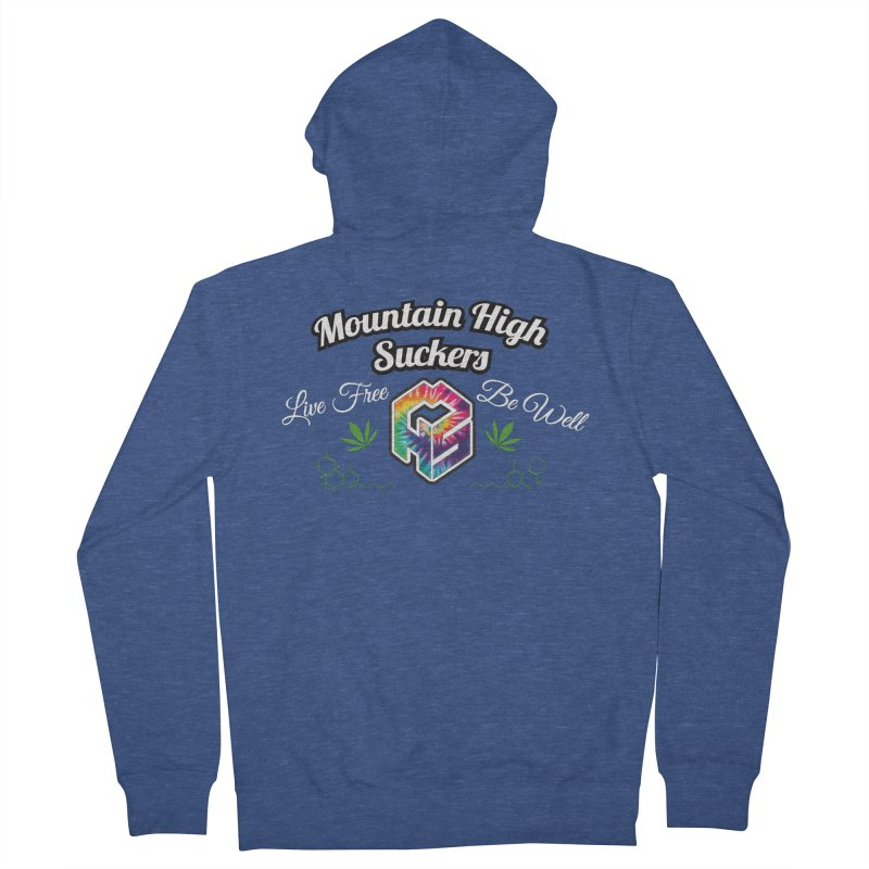 MHS Official Merch (dark) in Women's French Terry Zip-Up Hoody Heather Royal by Mountain High Suckers Merch