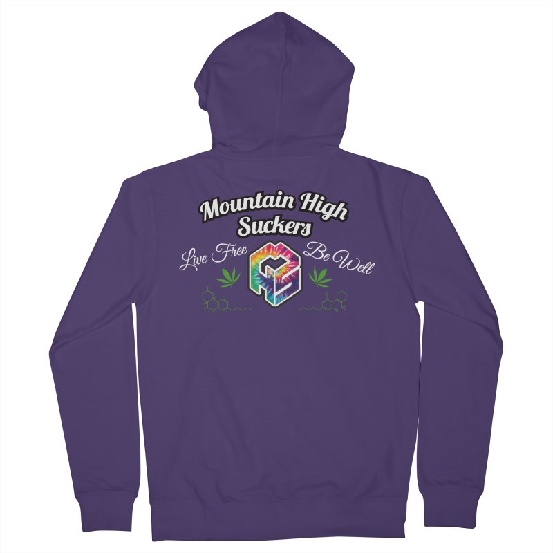 MHS Official Merch (dark) Women's French Terry Zip-Up Hoody by Mountain High Suckers Merch