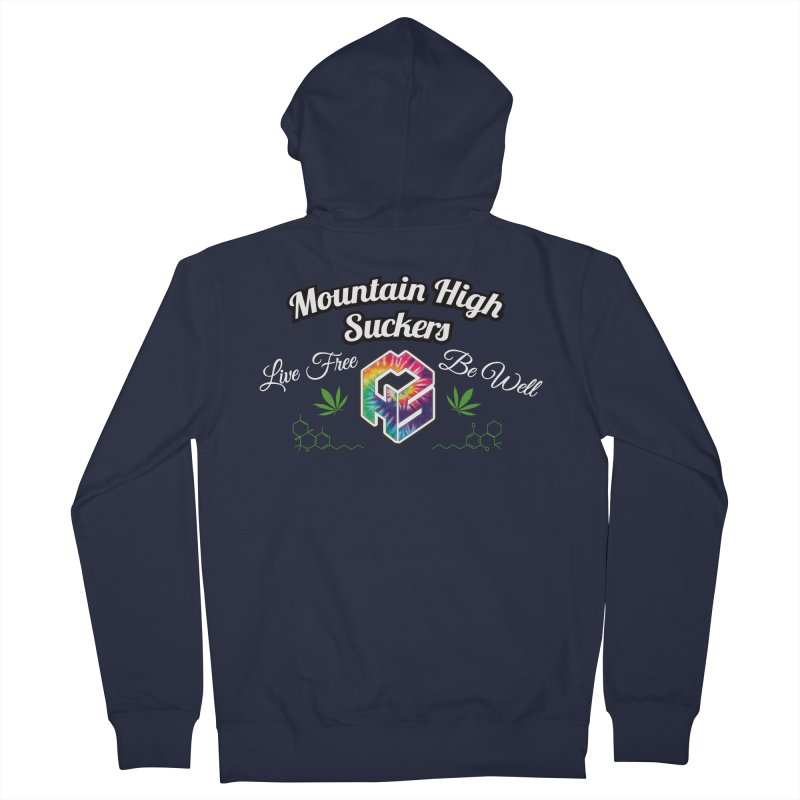 MHS Official Merch (dark) in Men's French Terry Zip-Up Hoody Navy by Mountain High Suckers Merch