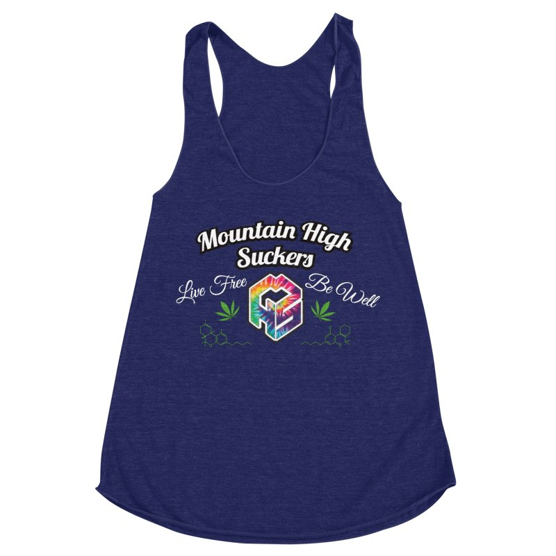 MHS Official Merch (dark) Women's Racerback Triblend Tank by Mountain High Suckers Merch