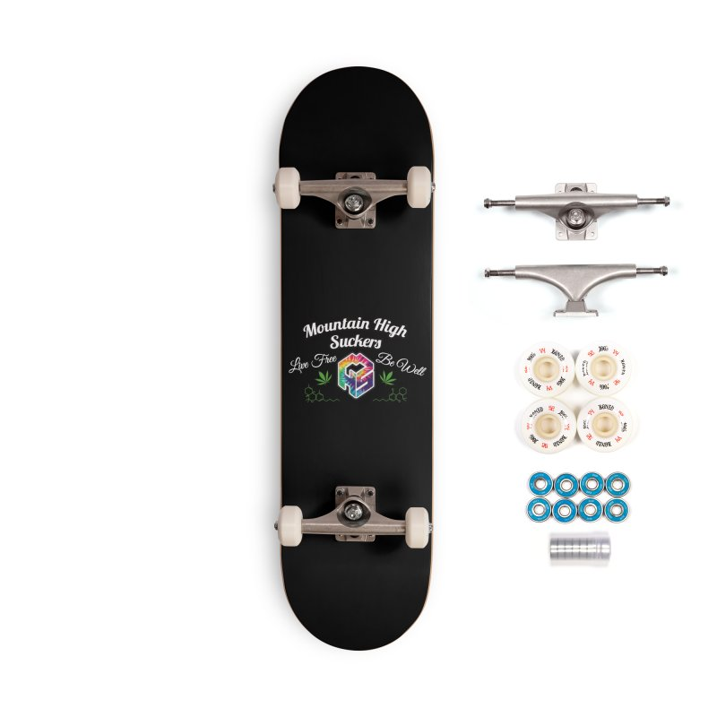 MHS Official Merch (dark) Accessories Complete - Premium Skateboard by Mountain High Suckers Merch