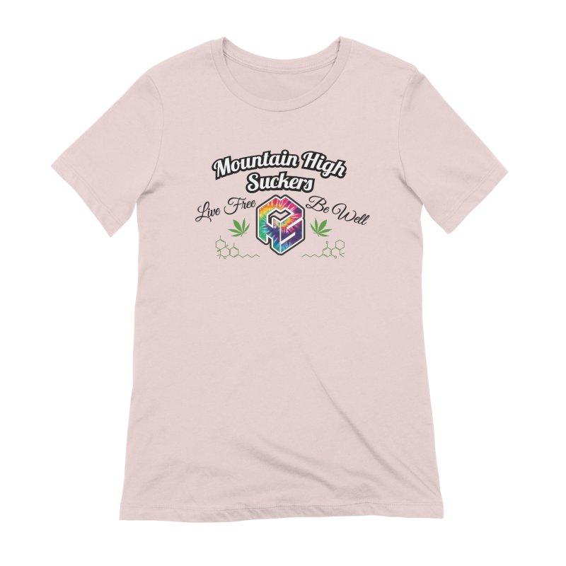 MHS Official Merch (light) Women's Extra Soft T-Shirt by Mountain High Suckers Merch