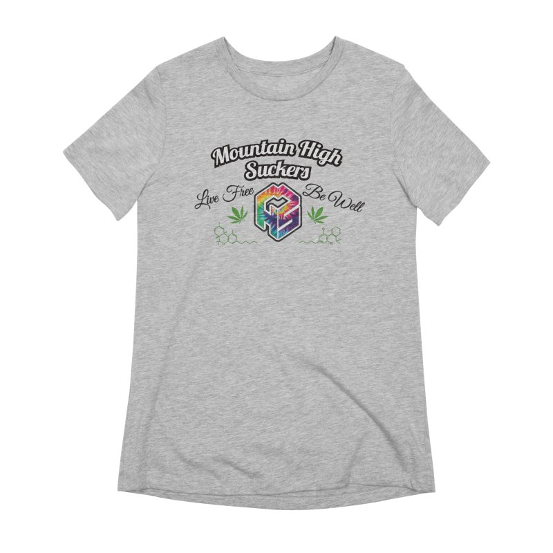 MHS Official Merch (light) Women's Extra Soft T-Shirt by Mountain High Suckers Merch