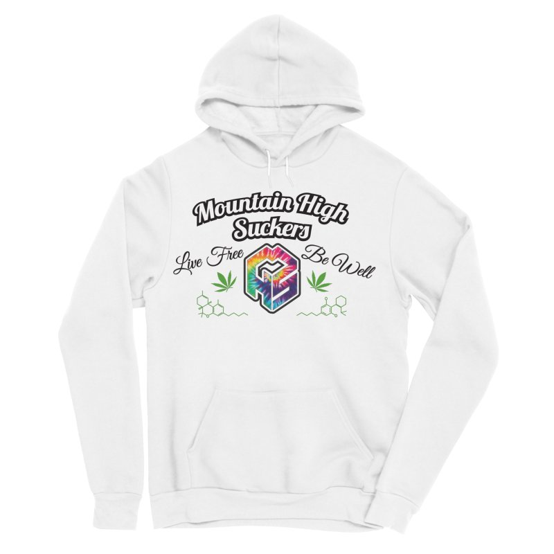 MHS Official Merch (light) Men's Sponge Fleece Pullover Hoody by Mountain High Suckers Merch