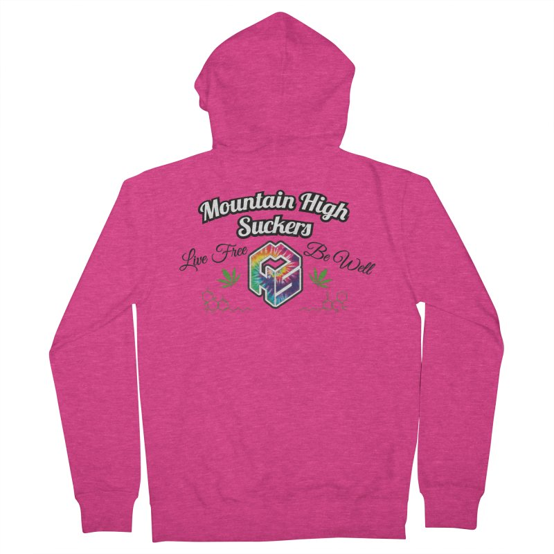 MHS Official Merch (light) Women's French Terry Zip-Up Hoody by Mountain High Suckers Merch