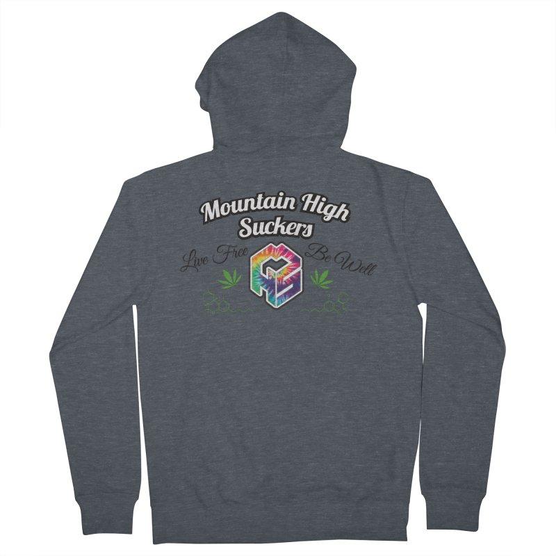 MHS Official Merch (light) Men's French Terry Zip-Up Hoody by Mountain High Suckers Merch