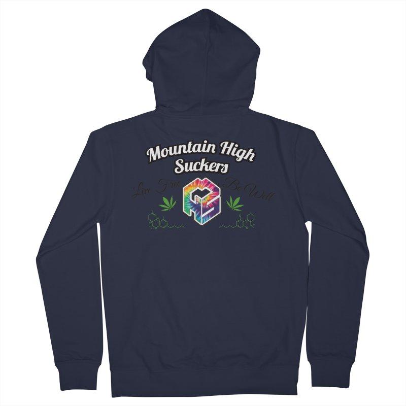 MHS Official Merch (light) Men's Zip-Up Hoody by Mountain High Suckers Merch
