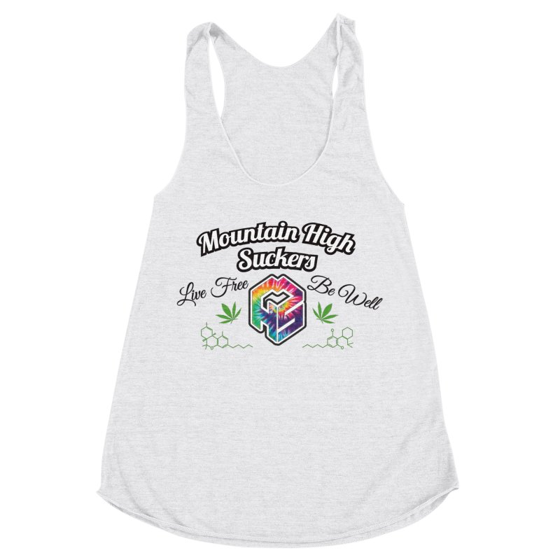 MHS Official Merch (light) Women's Racerback Triblend Tank by Mountain High Suckers Merch