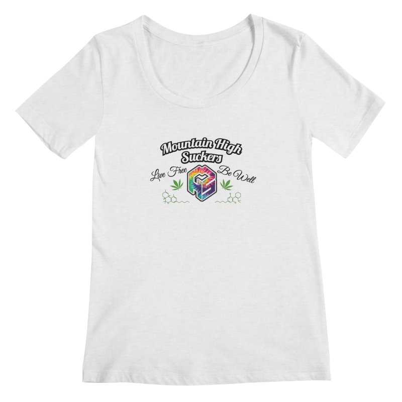 MHS Official Merch (light) Women's Regular Scoop Neck by Mountain High Suckers Merch