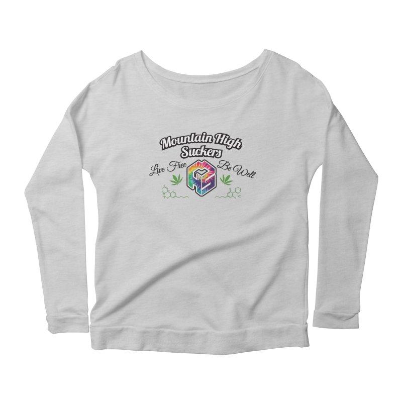 MHS Official Merch (light) Women's Scoop Neck Longsleeve T-Shirt by Mountain High Suckers Merch