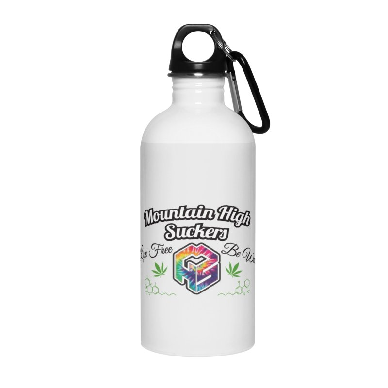 MHS Official Merch (light) Accessories Water Bottle by Mountain High Suckers Merch