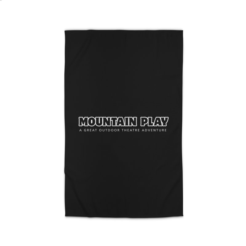 Mountain Play Logo (white for dark colors) Home Rug by Mountain Play Shop