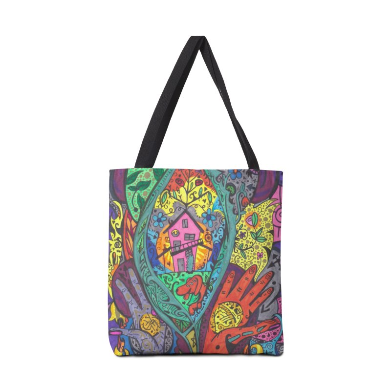 Ace of Leaves of the Patella Tarot: New Beginnings Masks, Gifts & Accessories Bag by Paint AF's Artist Shop