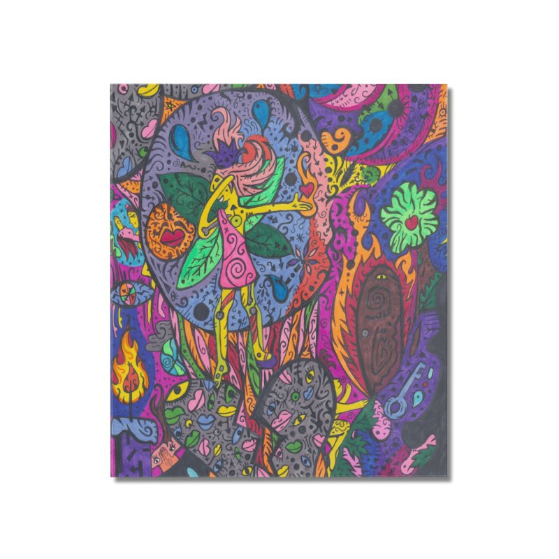 The Patella Tarot - The Idealist (Fool) Home, Décor & Cozy Mounted Acrylic Print by Paint AF's Artist Shop