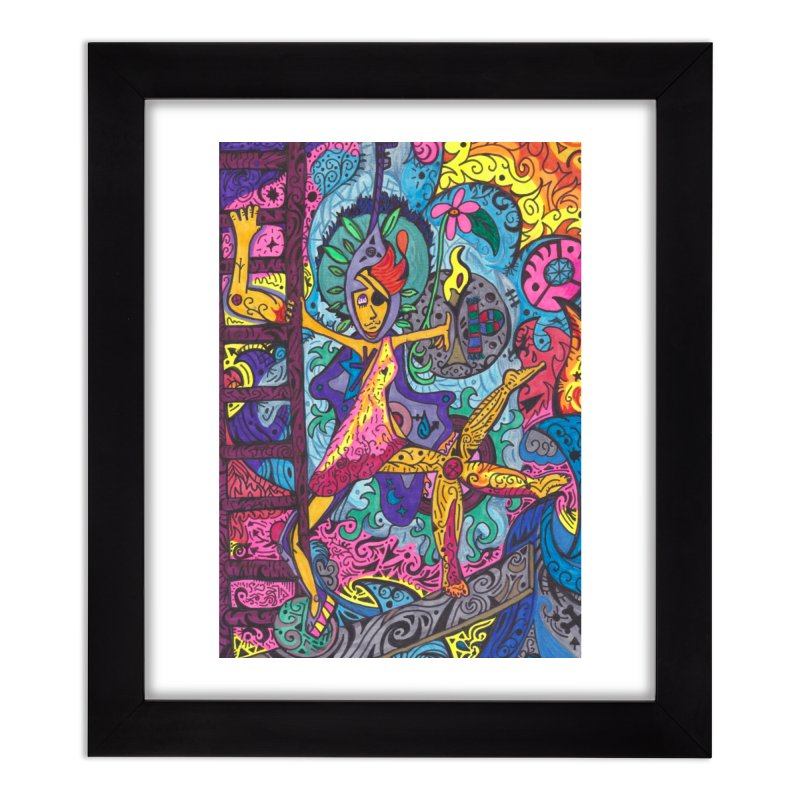 The Patella Tarot - Wheel of Fortune Home, Décor & Cozy Framed Fine Art Print by Paint AF's Artist Shop