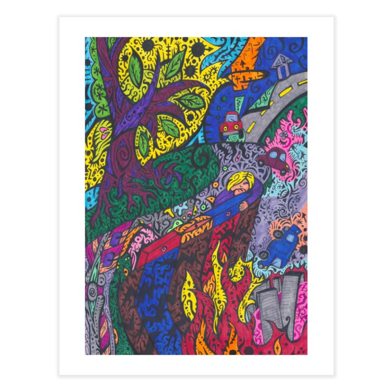 5 of Leaves of the Patella Tarot: Societal Chaos Home, Décor & Cozy Fine Art Print by Paint AF's Artist Shop