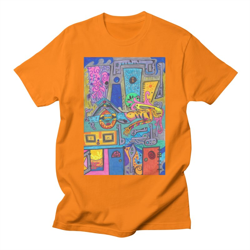8 of Keys of the Patella Tarot: False Limitations Comfortable Styles T-Shirt by Paint AF's Artist Shop