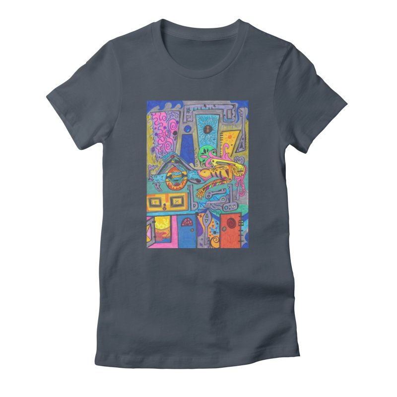 8 of Keys of the Patella Tarot: False Limitations Fitted Clothing Styles T-Shirt by Paint AF's Artist Shop