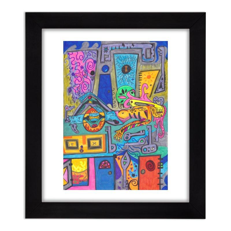 8 of Keys of the Patella Tarot: False Limitations Home, Décor & Cozy Framed Fine Art Print by Paint AF's Artist Shop