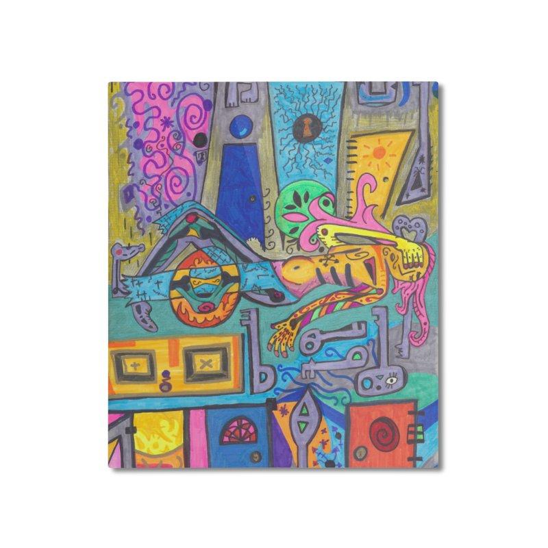 8 of Keys of the Patella Tarot: False Limitations Home, Décor & Cozy Mounted Aluminum Print by Paint AF's Artist Shop
