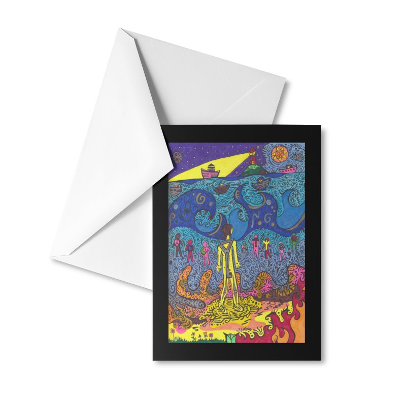 Teen of Keys of the The Patella Tarot: Faith Masks, Gifts & Accessories Greeting Card by Paint AF's Artist Shop