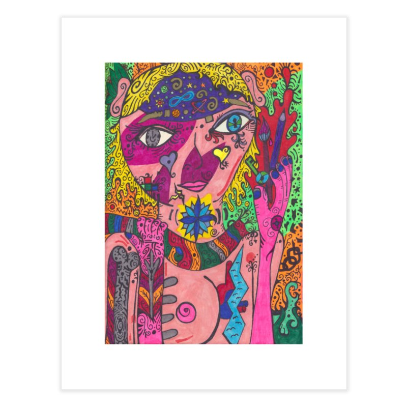 The Patella Tarot - Strength Home, Décor & Cozy Fine Art Print by Paint AF's Artist Shop