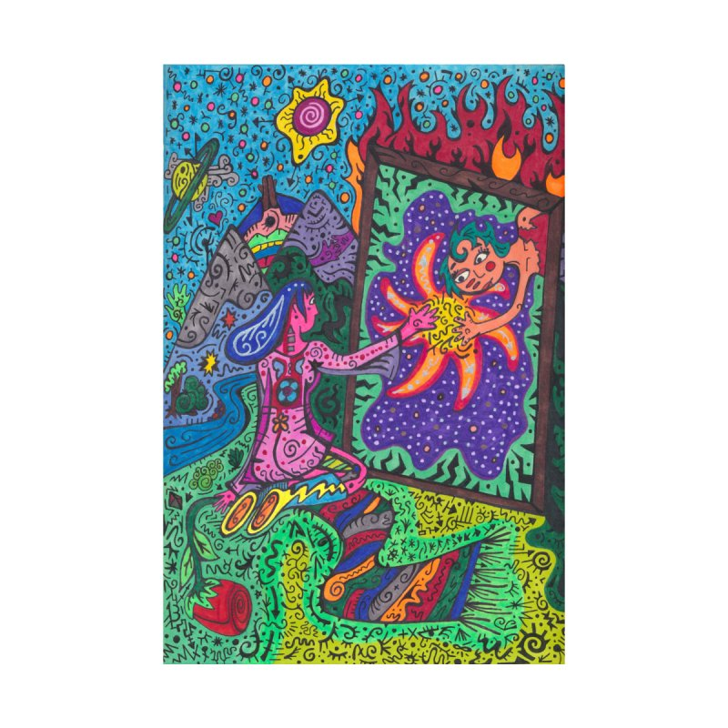 Adult of Tears of the Patella Tarot: Empathy Home, Décor & Cozy Shower Curtain by Paint AF's Artist Shop