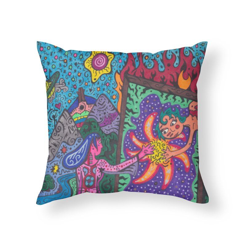 Adult of Tears of the Patella Tarot: Empathy Home, Décor & Cozy Throw Pillow by Paint AF's Artist Shop