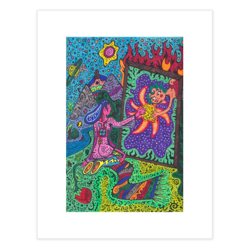 Adult of Tears of the Patella Tarot: Empathy Home, Décor & Cozy Fine Art Print by Paint AF's Artist Shop