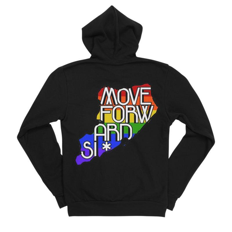 PRIDE Men's Sponge Fleece Zip-Up Hoody by moveforwardsi's Artist Shop