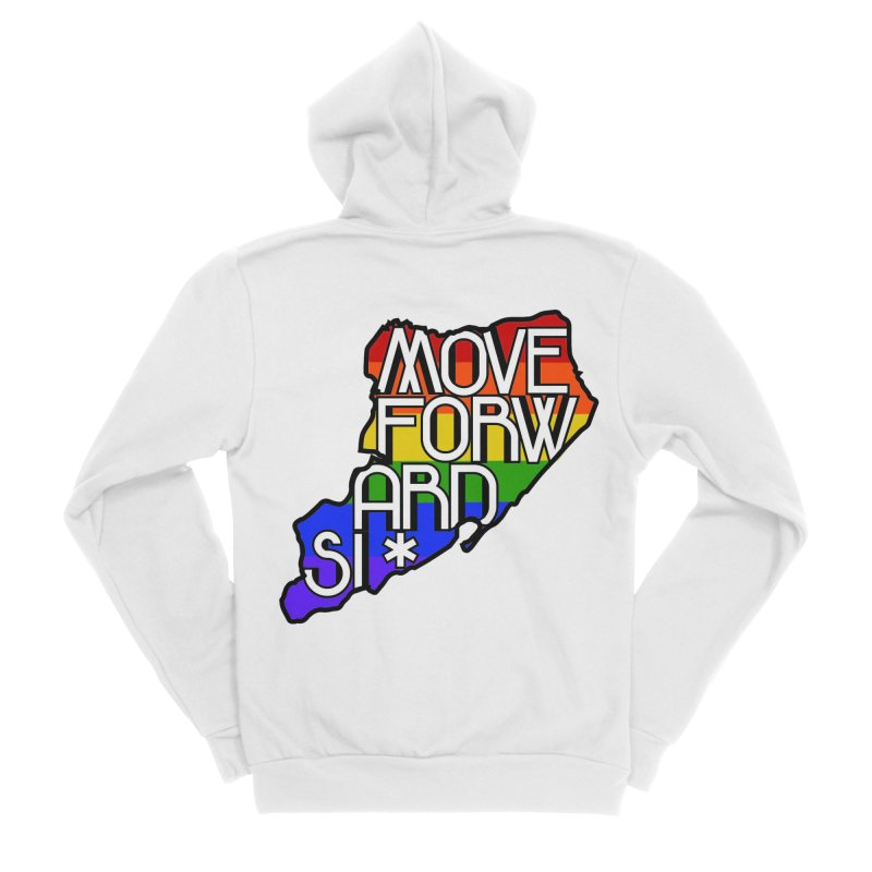 PRIDE Women's Sponge Fleece Zip-Up Hoody by moveforwardsi's Artist Shop