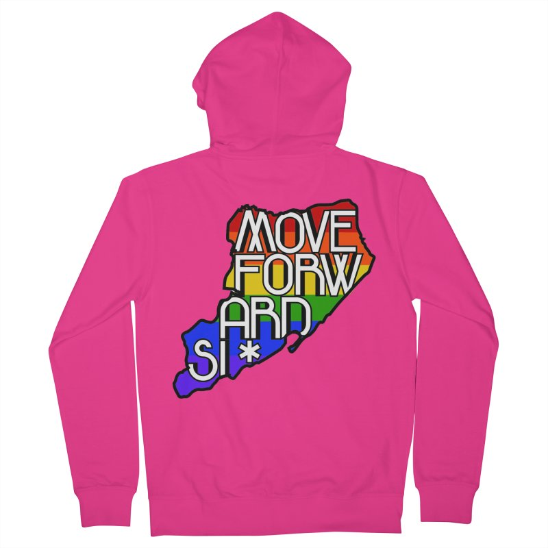 PRIDE Men's French Terry Zip-Up Hoody by moveforwardsi's Artist Shop