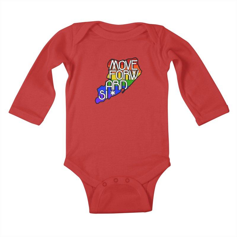 PRIDE Kids Baby Longsleeve Bodysuit by moveforwardsi's Artist Shop