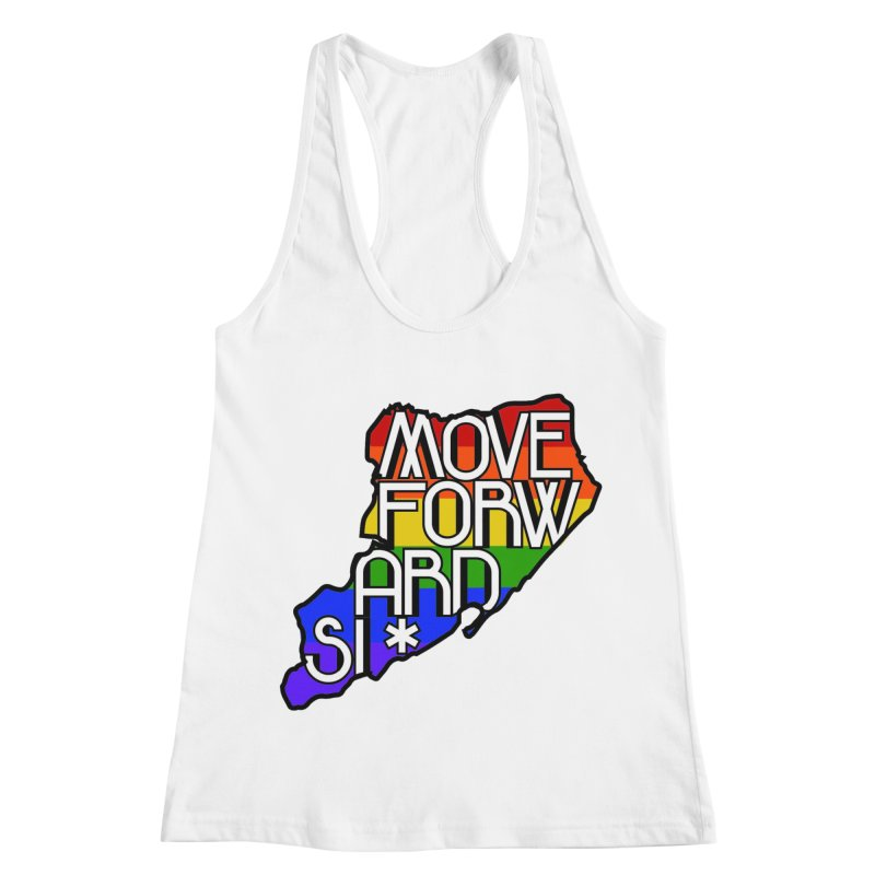 PRIDE Women's Racerback Tank by moveforwardsi's Artist Shop