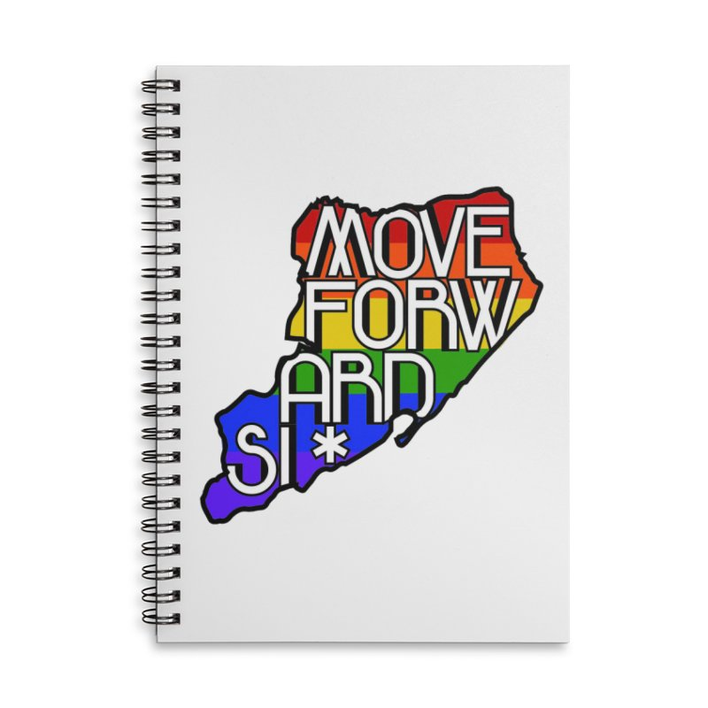 PRIDE Accessories Lined Spiral Notebook by moveforwardsi's Artist Shop