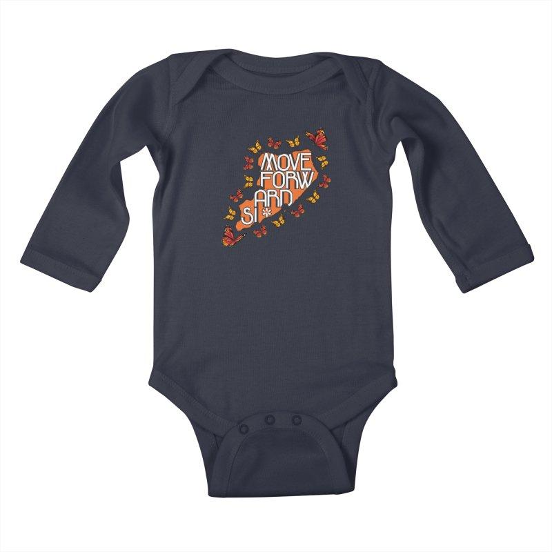 Immigrant Heritage Kids Baby Longsleeve Bodysuit by moveforwardsi's Artist Shop