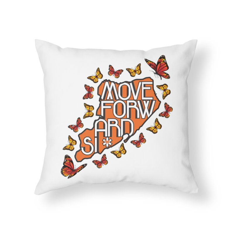 Immigrant Heritage Home Throw Pillow by moveforwardsi's Artist Shop