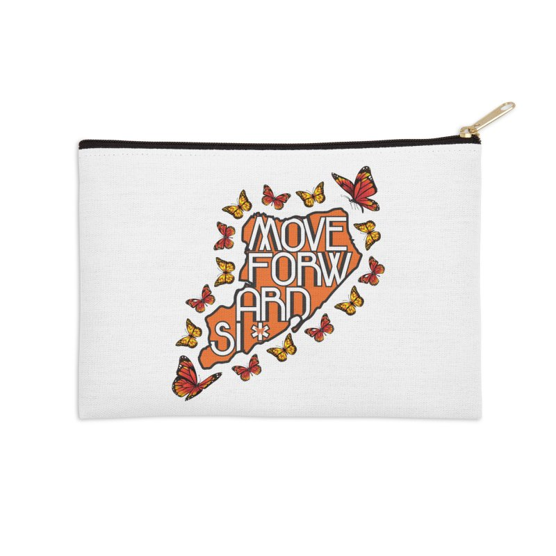 Immigrant Heritage Accessories Zip Pouch by moveforwardsi's Artist Shop