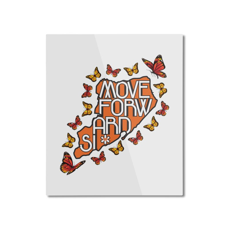 Immigrant Heritage Home Mounted Aluminum Print by moveforwardsi's Artist Shop