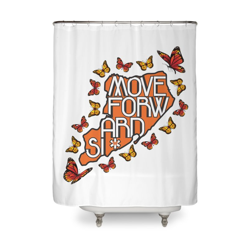 Immigrant Heritage Home Shower Curtain by moveforwardsi's Artist Shop