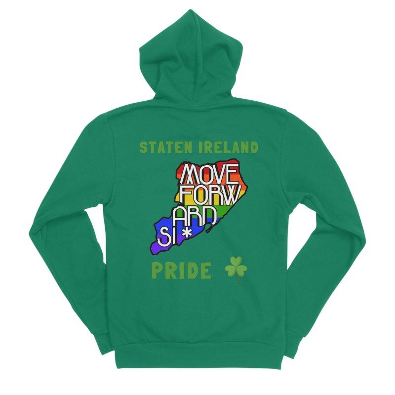 Staten Ireland Pride Men's Sponge Fleece Zip-Up Hoody by moveforwardsi's Artist Shop