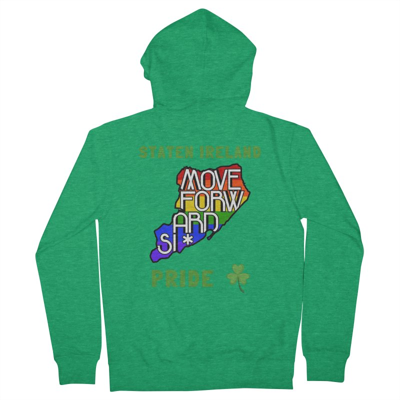 Staten Ireland Pride Men's French Terry Zip-Up Hoody by moveforwardsi's Artist Shop