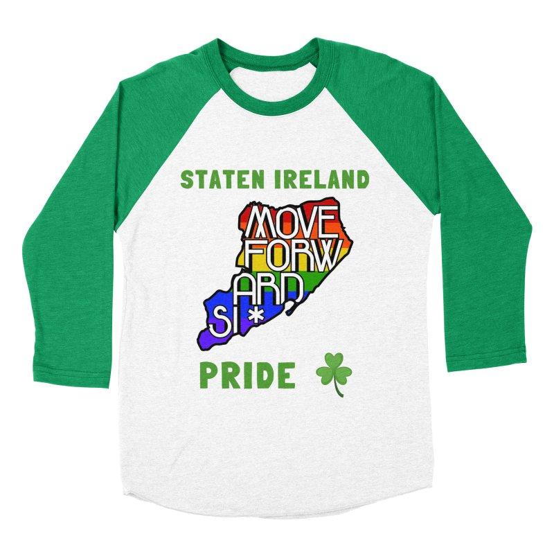 Staten Ireland Pride Men's Baseball Triblend Longsleeve T-Shirt by moveforwardsi's Artist Shop
