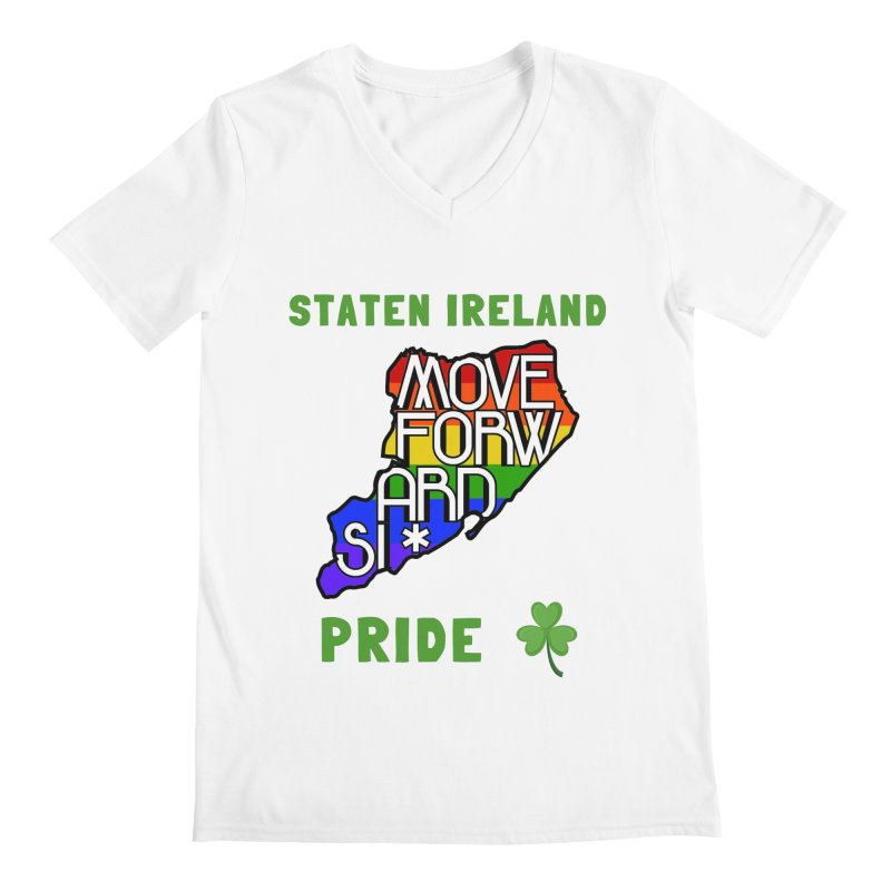Staten Ireland Pride Men's Regular V-Neck by moveforwardsi's Artist Shop