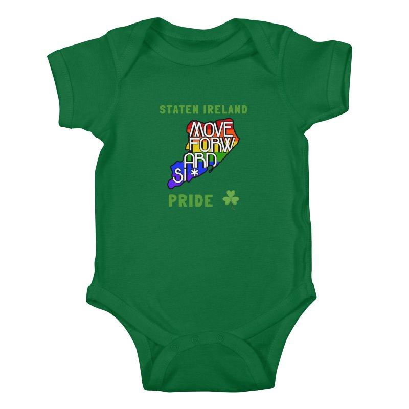 Staten Ireland Pride Kids Baby Bodysuit by moveforwardsi's Artist Shop