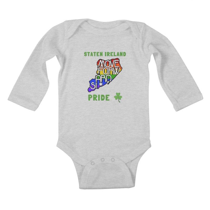 Staten Ireland Pride Kids Baby Longsleeve Bodysuit by moveforwardsi's Artist Shop
