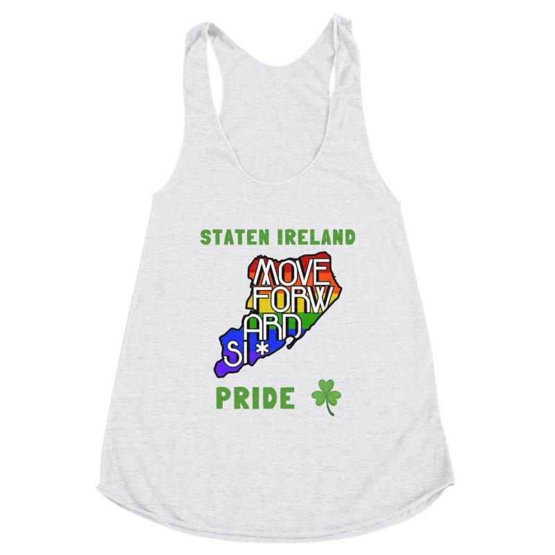 Staten Ireland Pride Women's Racerback Triblend Tank by moveforwardsi's Artist Shop