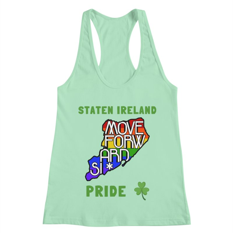 Staten Ireland Pride Women's Racerback Tank by moveforwardsi's Artist Shop