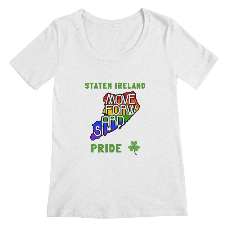 Staten Ireland Pride Women's Regular Scoop Neck by moveforwardsi's Artist Shop