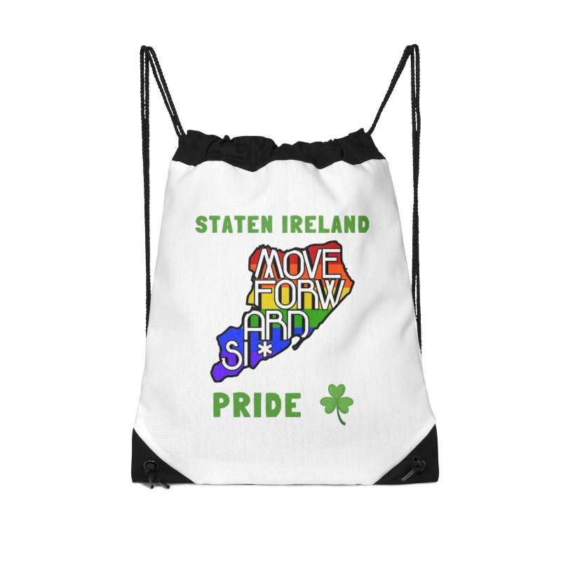 Staten Ireland Pride Accessories Drawstring Bag Bag by moveforwardsi's Artist Shop